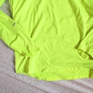 Nike Shirts - NIKE Neon Yellow Lightweight Quarter Zip